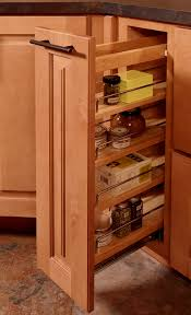 Spice Drawers Kitchen Cabinets by Built In Storage Cabinets Feature Pull Out Spice Rack