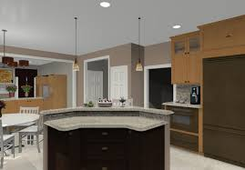 different shaped kitchen island designs with seating