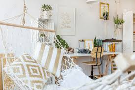 modern hammock at living room interior stock photo picture and