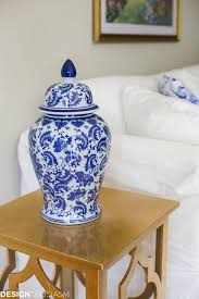 blue and white decor maintaining your style when downsizing a home