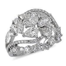 rings large stones images Vintage diamond cocktail ring with fancy shape stones in 18k white jpg