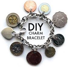 pandora style bracelet diy images Diy jewelry diy charm bracelet made with coins from places jpg
