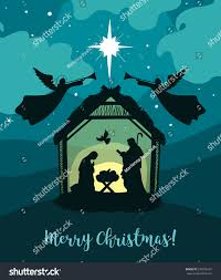 traditional christian christmas nativity scene baby stock vector