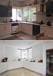 1980s kitchen before and after a contemporary update for a 1980s house