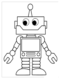 9 robot colouring pages images coloring sheets