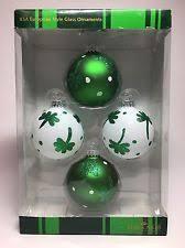 kd vintage st s day glass shamrock ornaments set of 2 ebay