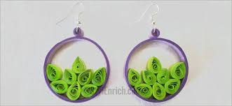 easy earrings easy quilling craft how to make easy paper quilling hoops tip