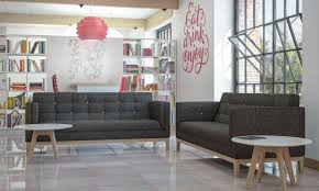contemporary sofa wooden fabric for public buildings jig
