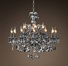 Iron Chandelier With Crystals All Ceiling Rh