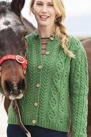 womens black cardigan sweater carraig donn aran wool sweater womens cable knit vneck