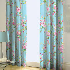 nice blue floral elegant floral window treatments that can be