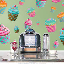 Wizard Of Oz Wall Stickers Cupcakes Assorted Wall Decal Sheet Of 26 Bakery Decor