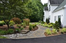 easy landscaping ideas landscape traditional with plants white
