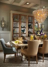 Tropical Dining Room Furniture Transitional Chandelier Dining Room Tropical With China Cabinet