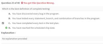 completed definition definition of complete testing istqb foundation level software