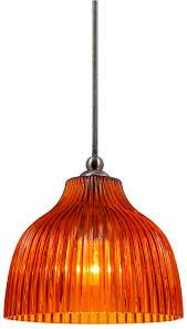 bell shaped l shades mini pendant light glass l shade amber ridges bell shape 5 5