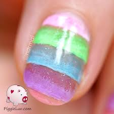piggieluv jelly dessert nail art with opi sheer tints
