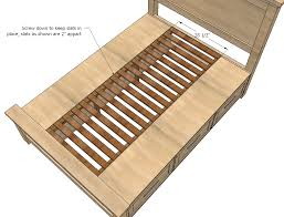 Woodworking Plans For Twin Storage Bed by Ana White Farmhouse Storage Bed With Drawers Twin And Full
