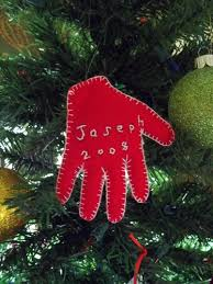 baby s handprint ornament quiver of blessings