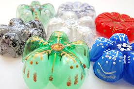 plastic bottle snowflakes diy handmade christmas decorations