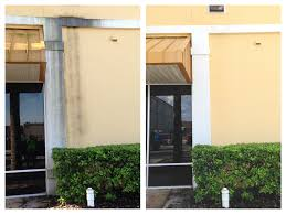 this is a beforeandafter from the back of a shopping center we