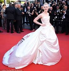 cannes film festival elle fanning makes a bold entrance daily