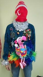 ugly christmas sweaters that light up and sing ugly christmas sweater flamingo pink joy noel polka dots the works