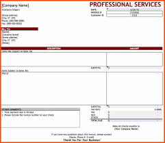 service invoice template program format