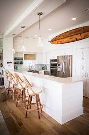 Transitional Pendant Lighting Kitchen - kitchen peninsula with kitchen beach style and transitional