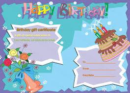 multicolored birthday cake gift certificate template beautiful