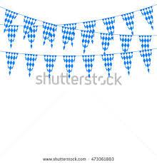 Oktoberfest Decorations Oktoberfest Garlands Having Bluewhite Checkered Pattern Stock