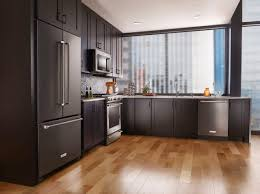 Kitchen Aid Cabinets by Kitchen Glass Window And Kitchenaid Refrigerator Design Ideas For