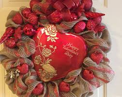 valentines wreaths wreath etsy
