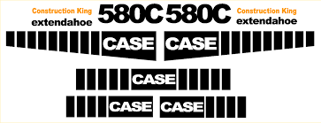 case 580c new replacement decal kit machine decals