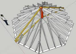 octagonal roof u0026 octagon tower structural ring rafter layout