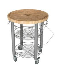 30 in round kitchen cart 2 in butcher block cart chris chris 30 round chop n drop work station grooved end