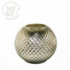 Silver Vase Wholesale Hobnail Silver Mercury Glass Ball Vase Wholesale Flowers And
