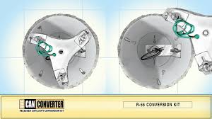 kit to convert recessed light to pendant the can converter model r56 how to install ceiling fan youtube
