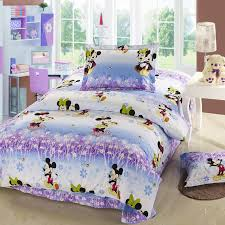 Minnie Mouse Twin Comforter Sets Purple And Blue Mickey Minnie Mouse Twin Full Queen Size Bedding