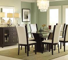 rectangular glass top dining room tables homelegance daisy rectangular glass top dining table beyond stores