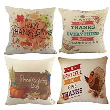 happy thanksgiving throw pillow covers wonder4 cotton linen home