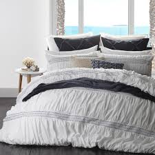 logan and mason corfu navy super king quilt cover set in 2 linen