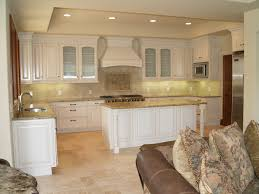 backsplash kitchen with travertine floors admin kitchen design