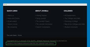 how to customize or remove copyright info joomla templates and