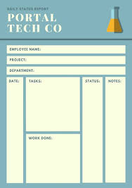 employee daily report template customize 61 daily report templates canva