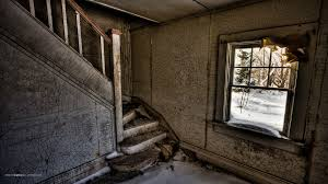 houses abandoned place stairs rundown window old house desktop