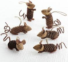 Pine Cone Home Decor Winter Pinecone Friends Mice Eclectic Holiday Decorations
