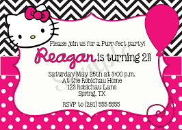 hello kitty birthday invitations templates designs invitations