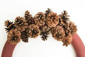 pinecone wreath diy pinecone wreath tutorial with mini pom poms