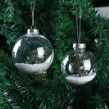 clear plastic balls diy tree hanging bauble